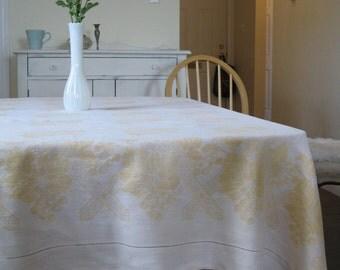 Buttermilk Yellow Tablecloth