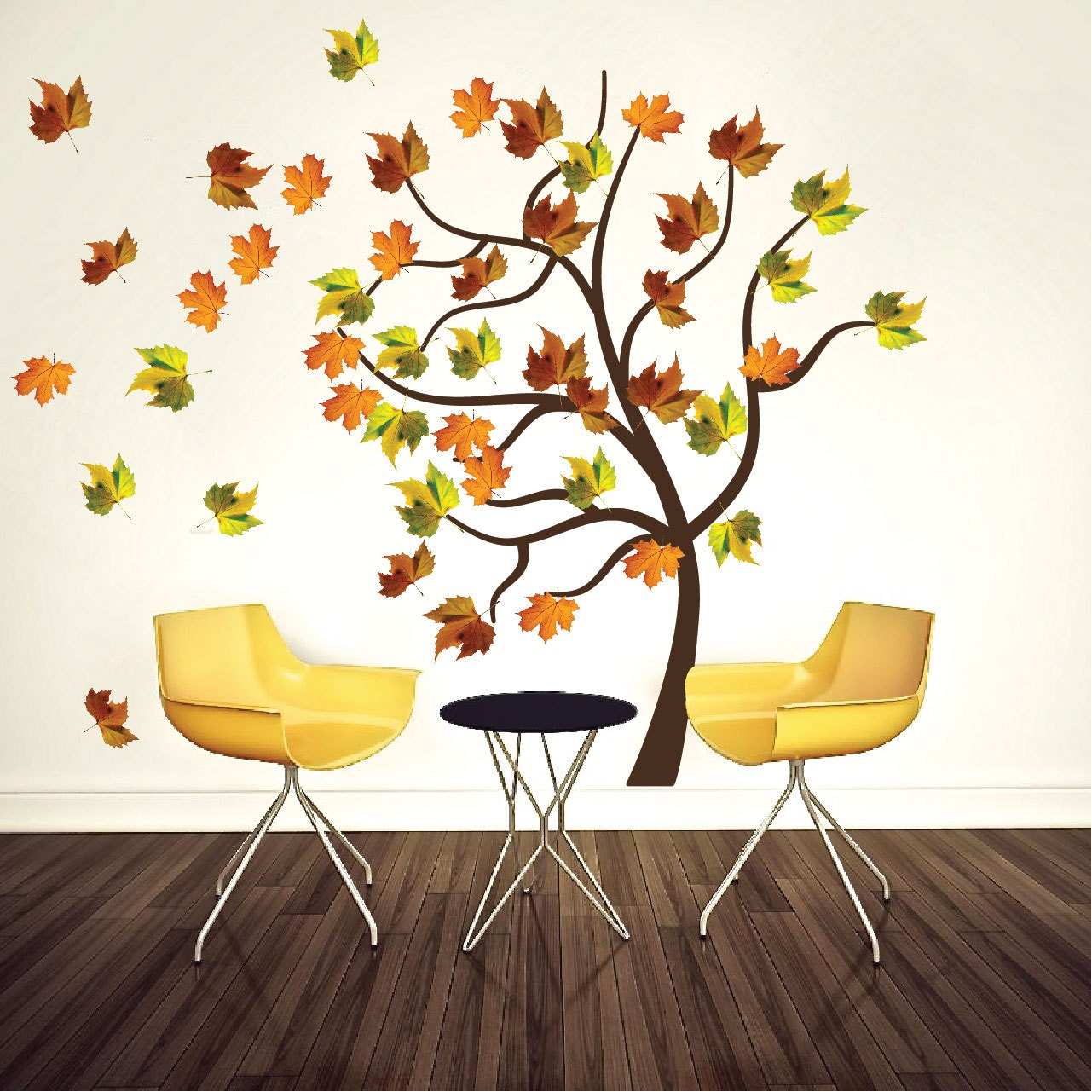 Autumn tree decal adjustable tree branch wall decal stickers zoom amipublicfo Gallery