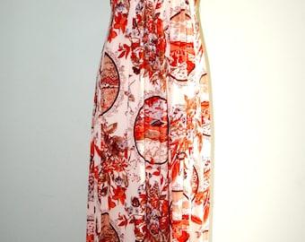 Vintage 1970's Bohemian, Boho, Maxi Dress