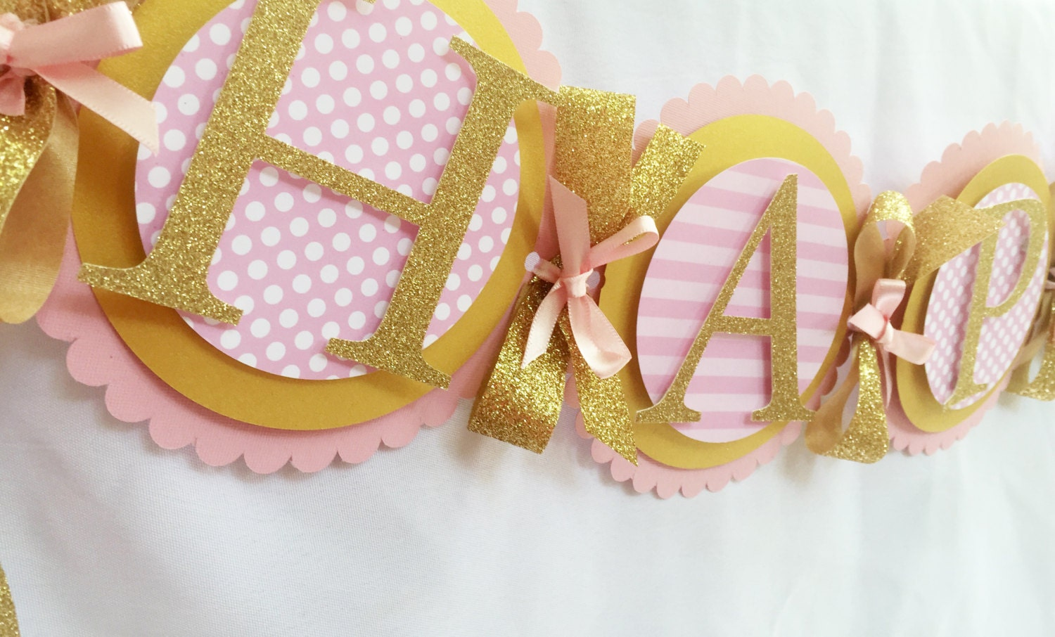 pink and gold happy birthday banner pink and gold first