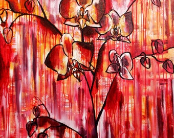 Abstract orchids still life  - PRINT