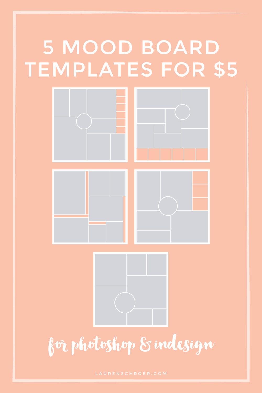 5 mood board templates. Black Bedroom Furniture Sets. Home Design Ideas