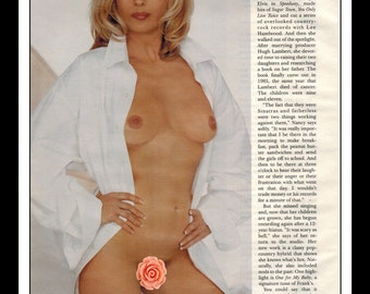"Mature Celebrity Nude : Nancy Sinatra Single Page Photo Wall Art Decor 8.5"" x 11"""