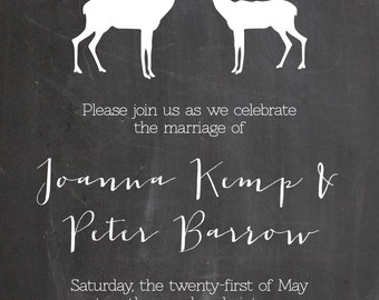 Simple Wedding Invitation_Digital File
