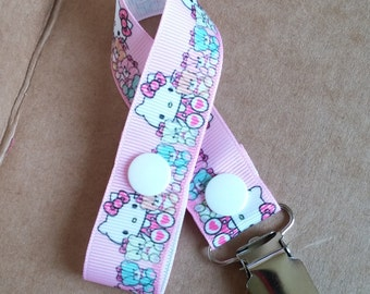 SALE! Hello Kitty Bears Pacifier Clip