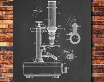 Microscope Patent Print Art 1900
