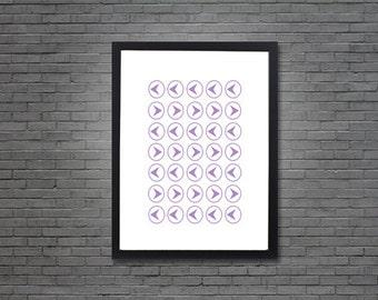This Way, That Way Pattern | Digital Art, Printable