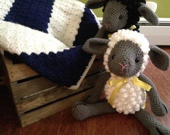 Handmade Amigurumi Crocheted Plush Lamb