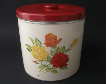Large Tin Canister 1950's