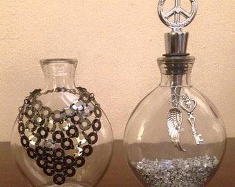 Peace Love & Happiness Mini Vase Set