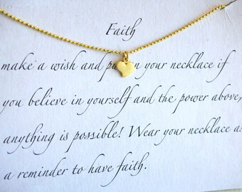Faith simple Heart - Necklace 925 silver plated