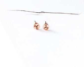 Aries Stud Earring 18K Rose Gold Horoscope Stud Earring Star Sign Earring Simple Everyday Earring Birthday Gift Horoscope Astrology Earring
