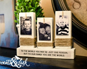 DIY Kit - Fathers Day Blocks - Craft Kit - Create your own - Wooden Photo Display - Fathers Day Gift - Wooden Photo Blocks