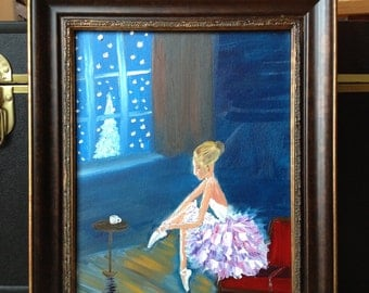 "The Winter Dancer Original Oil Painting 14""x11"""