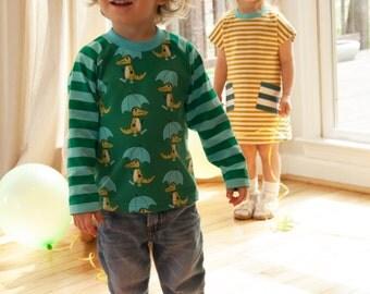 Organic Cotton Boy's Shirt, Long Sleeve Shirt, Raglan Shirt,Jersey boy's shirt,organic jersey toddler shirt,organic long sleeve boy's shirt