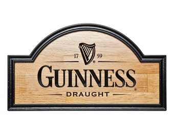 Guinness sign, beer sign, Bar sign, Beer sign, Beer art, Pub sign, Man cave sign, Brewery sign, Vintage sign, gifts for men, gifts for him