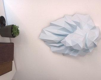 Faux trophée Lion, Tete de Lion fait en papier DIY.