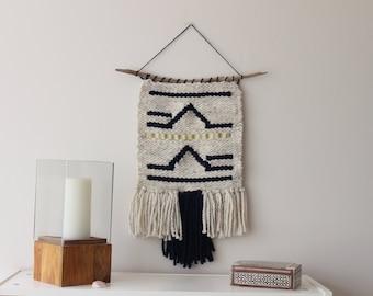 WEAVING/ Woven Wall Hanging / Weaving Wall Hanging / Fiber Art / Tapestry