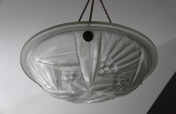 antique suspension fran aise art d co en verre. Black Bedroom Furniture Sets. Home Design Ideas