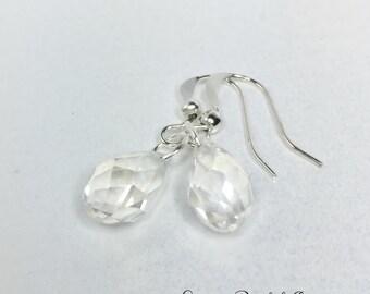 Crystal Drop Earrings Wedding Earrings Bridesmaid Earrings Bridesmaid Gift Wedding Jewelry Crystal Jewelry Crystal Teardrop Jewelry Set