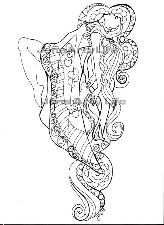 Rapture Fairy adult colouring Page