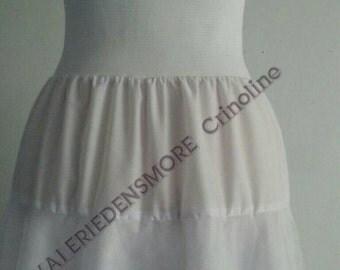 Vintage style crinoline. Petticoat. Bridal wear. Full length crinoline. Lingerie.  White petticoat.  Ladie's wear. Long petticoat