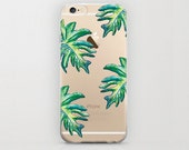 Tropical Leaves iPhone 6 Case Banana Leaf Phone Case Hard Shell Plant iPhone 6s Cell Phone Covers iPhone 6 Plus Trendy Unique iPhone 6s Plus