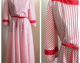 Peppermint Dress | vintage 1970s dress