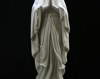 Our Lady of Lourdes Virgin Mary Madonna Blessed Mother Catholic Statue Sculpture Religious Indoor Outdoor Garden Made in Italy