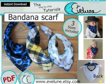 Bandana scarf / bib sewing pattern / cowboy scarf / costume / Baby / Toddler / toy / PDF/ tutorial / DIY