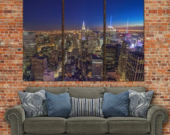 New York Skyline Canvas Art, Large Wall Art Canvas, New York Skyline, New York City, New York Art, New York Print, Large Canvas, Big Canvas