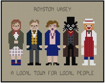 The League Of Gentlemen - Royston Vasey - Local People - Cross Stitch PDF Pattern Instant Download
