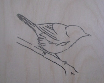 Magnolia Warbler Silk Screen on Birch Plywood