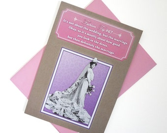 All About the Dress | Funny Bridal Shower Card - Vintage Fashion - Sassy Humor