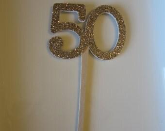 Glitter Number Cupcake Picks 6CT