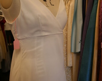 Simple Romantic Ivory Chiffon Dress