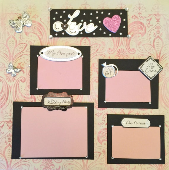 Premade Scrapbook Page Wedding By ChristieKNBCreations On Etsy
