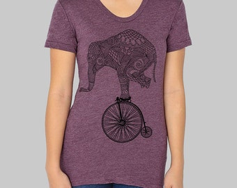 XL -- SALE -- Womens Tshirts - on sale, sale items, clearance, American Apparel Elephant graphic tees for women,  junior