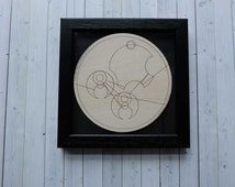 Dr Who new home gift. Decorative wooden Gallifreyan wall plaque -  Home Sweet Home