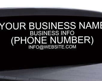 Business Window Decals