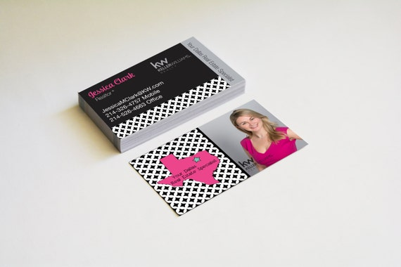 Real estate business cards texas map modern by for Modern real estate business cards