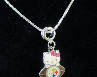 PITTSBURG STEELERS Hello Kitty 925 Sterling Silver Necklace