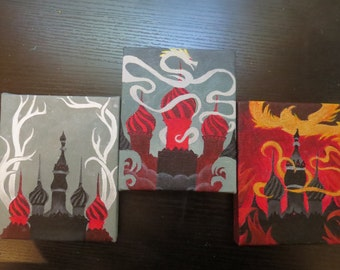 The Grisha Trilogy 4x5 Handpainted Canvas Fanart MADE TO ORDER
