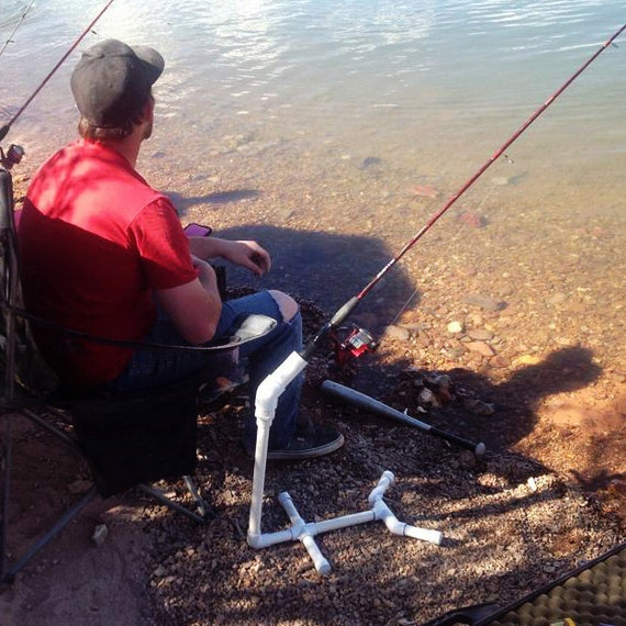 Items similar to fishing pole holder fishing gear for Diy fishing pole holder