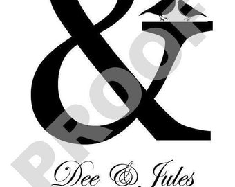 Ampersand Sign (&) Wedding Word 8 1 /2 X 11 Print Art