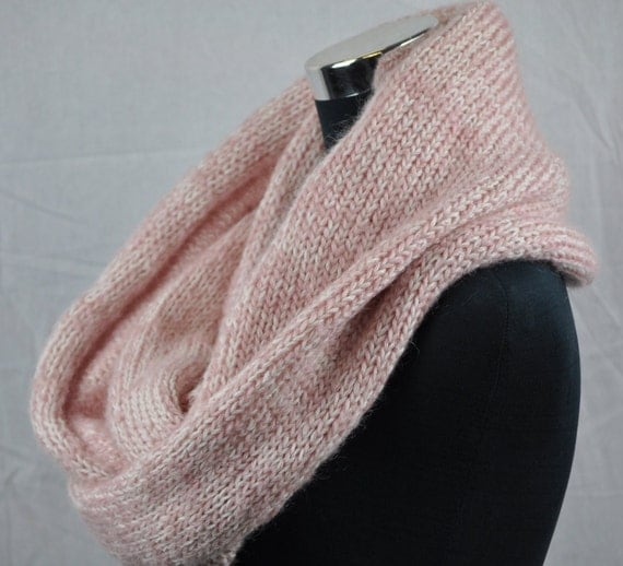 Infinity Scarf Knitting Pattern Mohair : Chunky knit scarf. Infinity scarf. mohair wool by CopperPenni