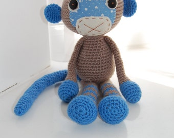 Boy Monkey, Crochet Monkey, Stuffed Toys, Amigurumi Monkey