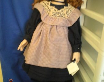 """Zelma, a handmade Modern Porcelain Doll standing 25 1/2 """" tall."""
