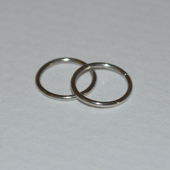 small platinum nose ring hoop earring by brightbdesigns