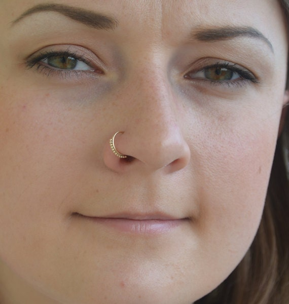Small Nose Ring 20g Gold Nose Piercing Tragus Piercing